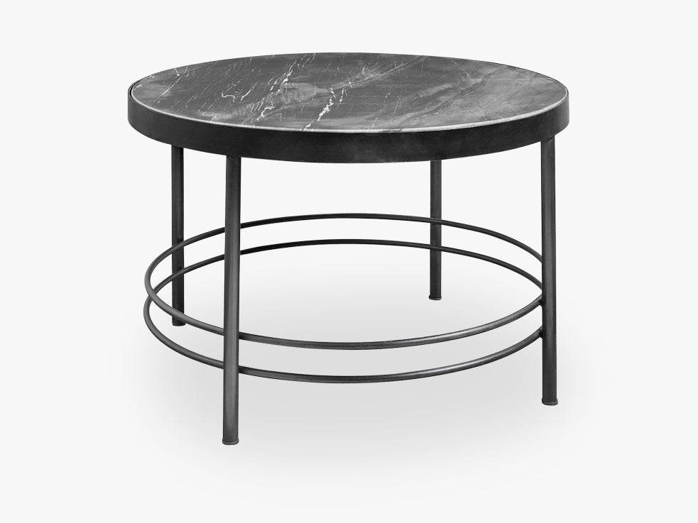 MIDNIGHT coffee table, black marble fra Nordal
