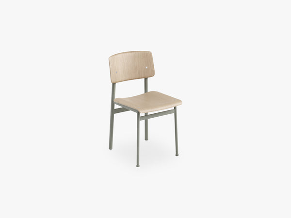 Loft Chair, Dusty Green/Oak fra Muuto