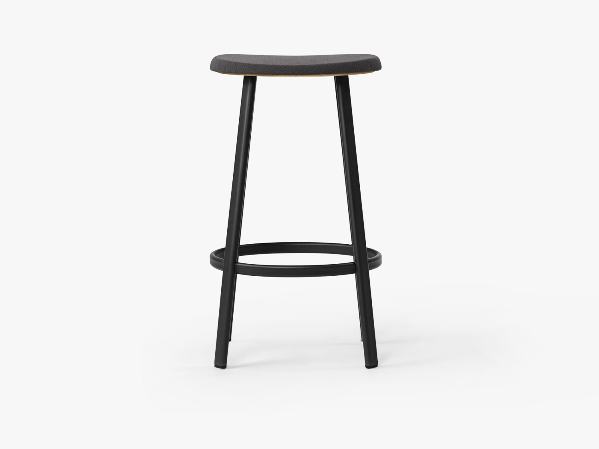 Anno Stool H75, Black/Black Textile fra MILLION