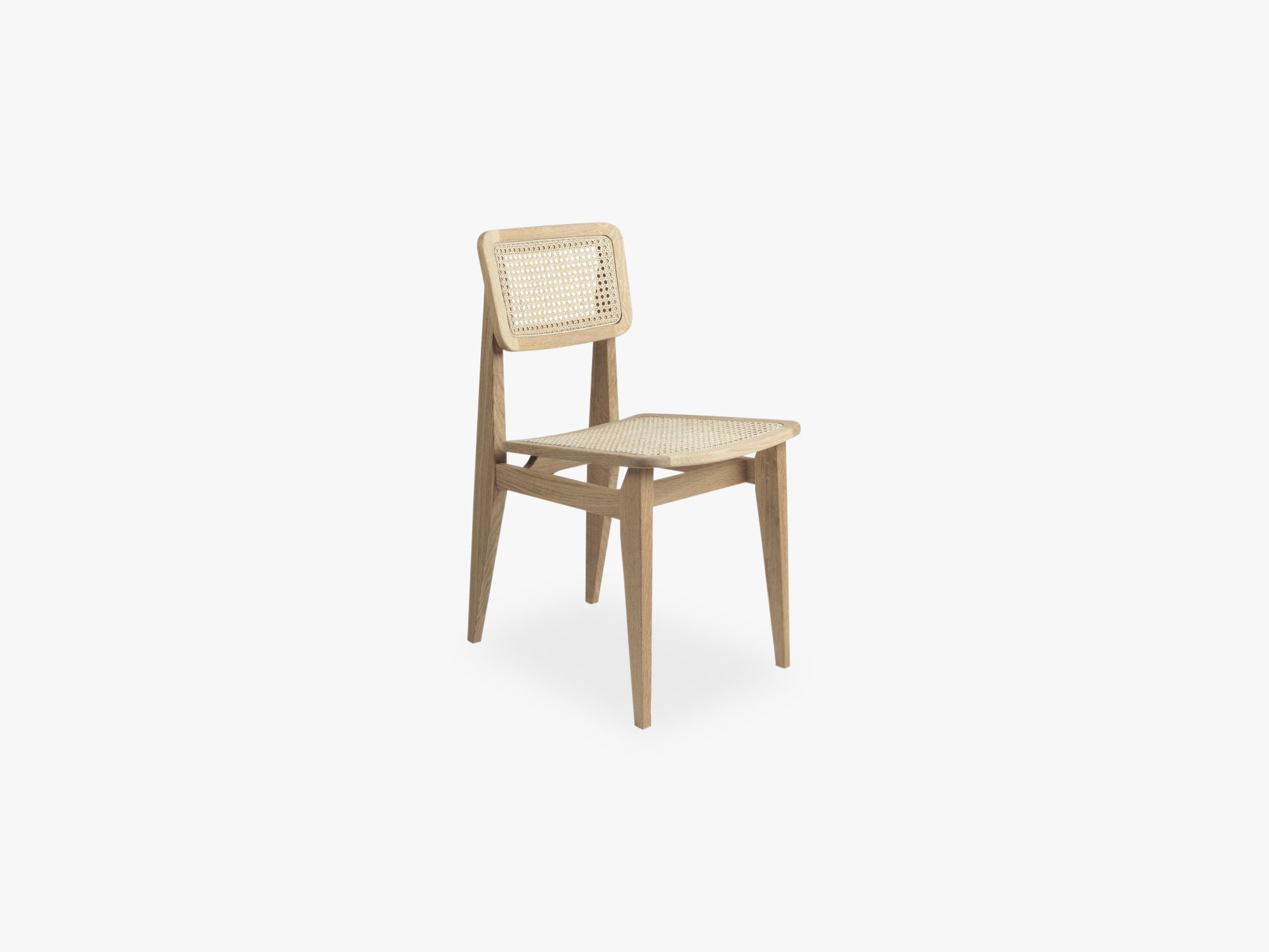 C Chair Dining Chair All French Cane, BrownBlack Stained