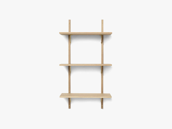 Sector Shelf T/N - Oak - Brass fra Ferm Living