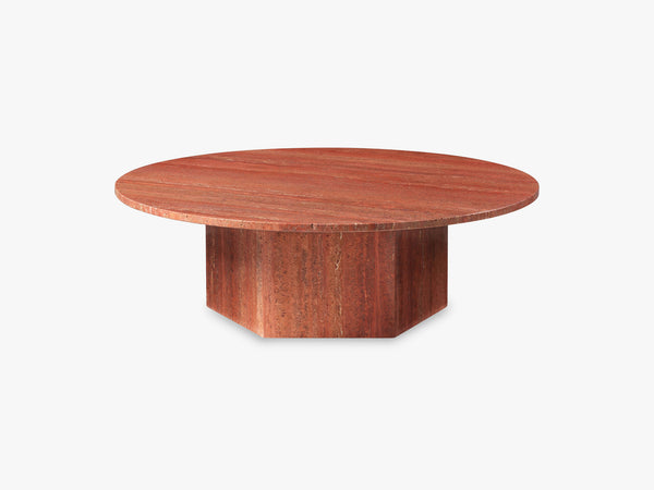 Epic Coffee Table - Red Travertine, Ø110 fra GUBI