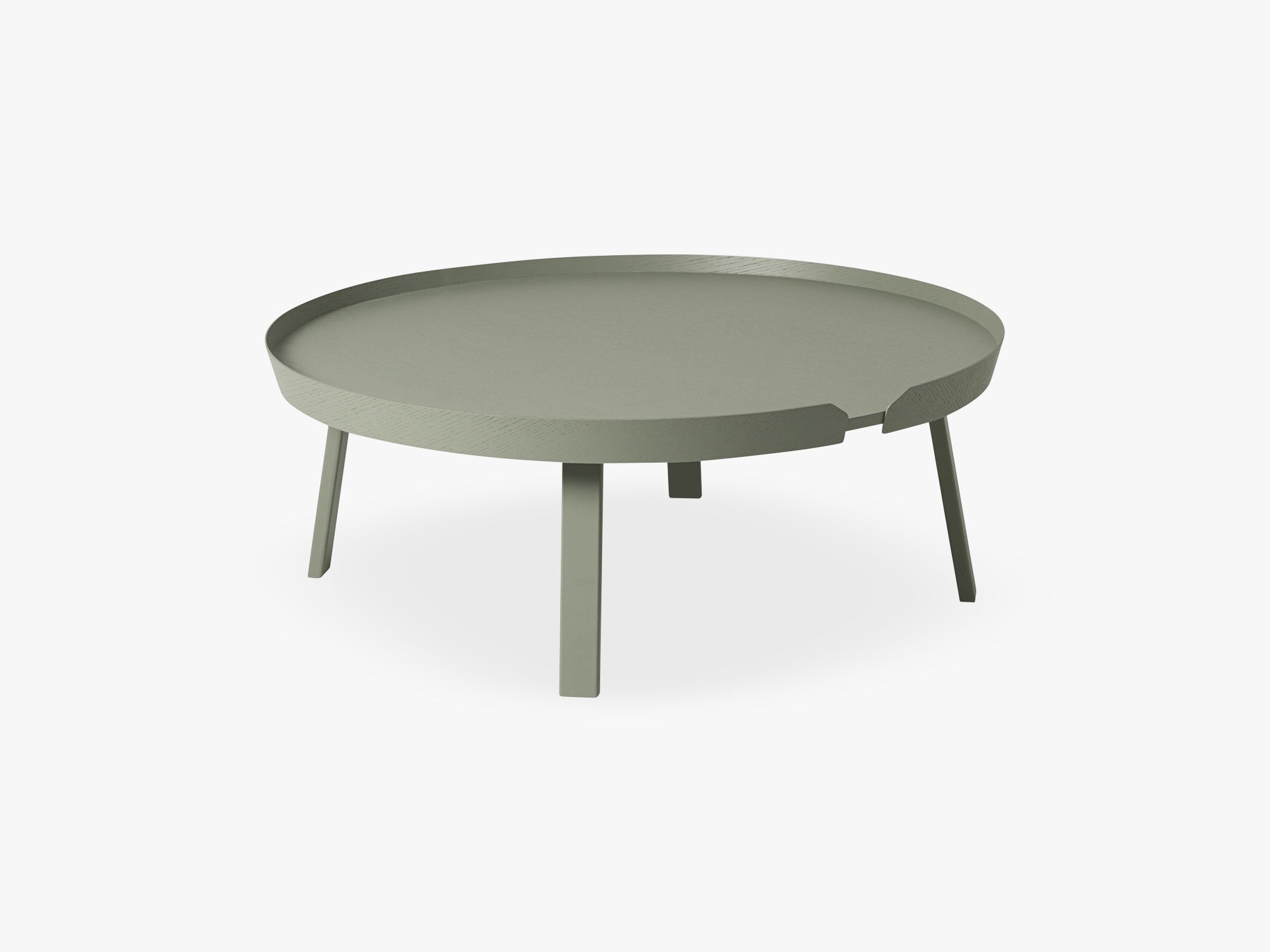 Around Coffee Table - Xl - Extra Large, Dusty Green fra Muuto