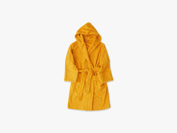 Hooded Bathrobe Bath, Mustard Yellow fra Tekla Fabrics