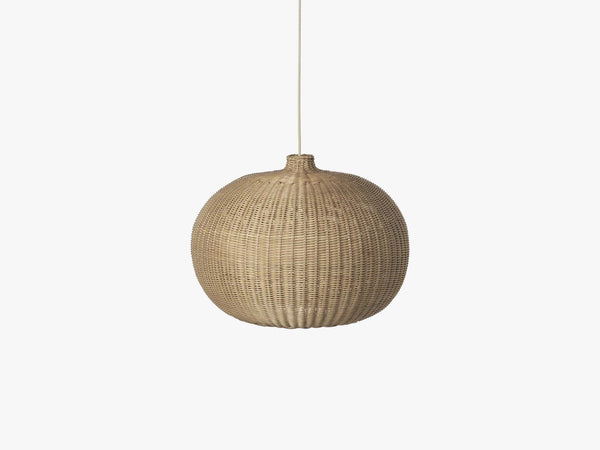 Braided Belly Lamp Shade, Natural fra Ferm Living