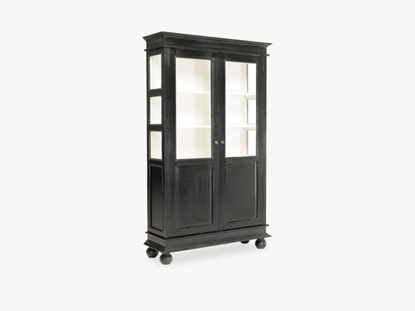 Double cabinet, black/white inside fra Nordal
