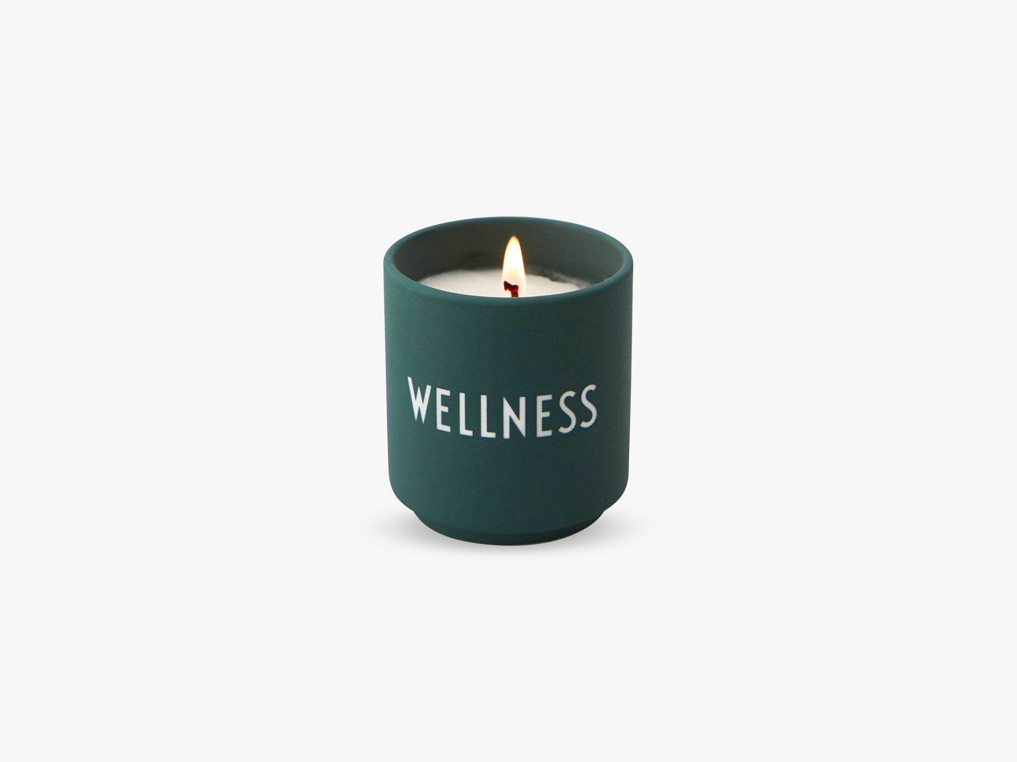 Scented Candle, Dark Green Wellness fra Design Letters