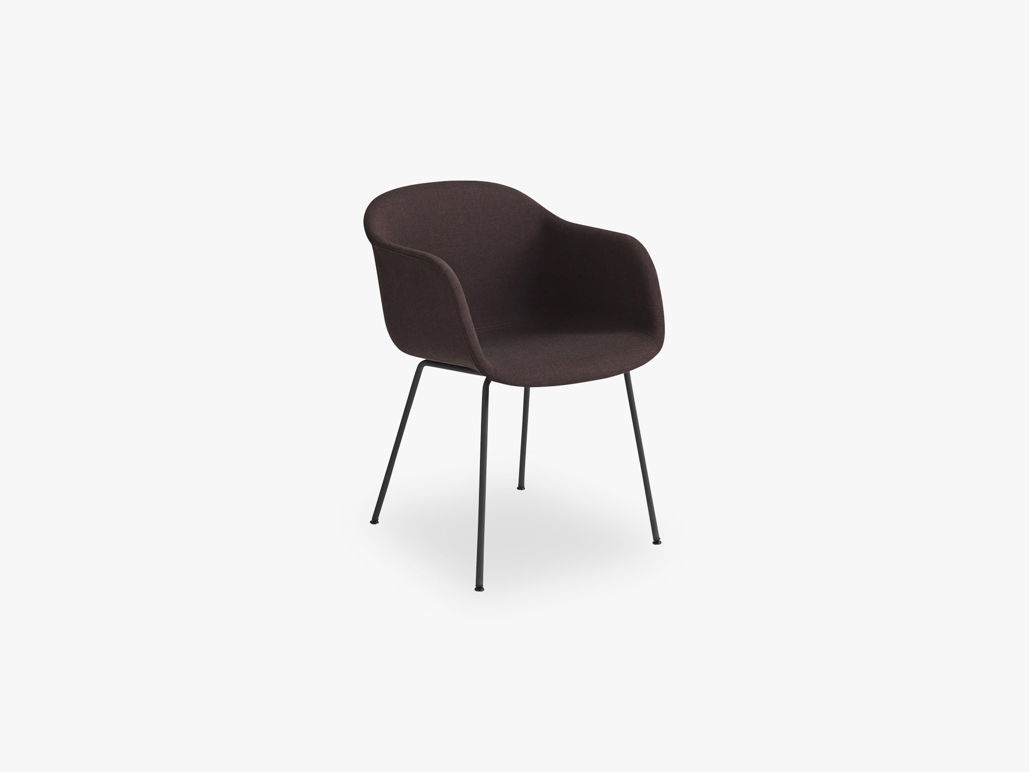 Fiber Armchair - Tube Base - Textile Shell, Remix 373 / Black fra Muuto