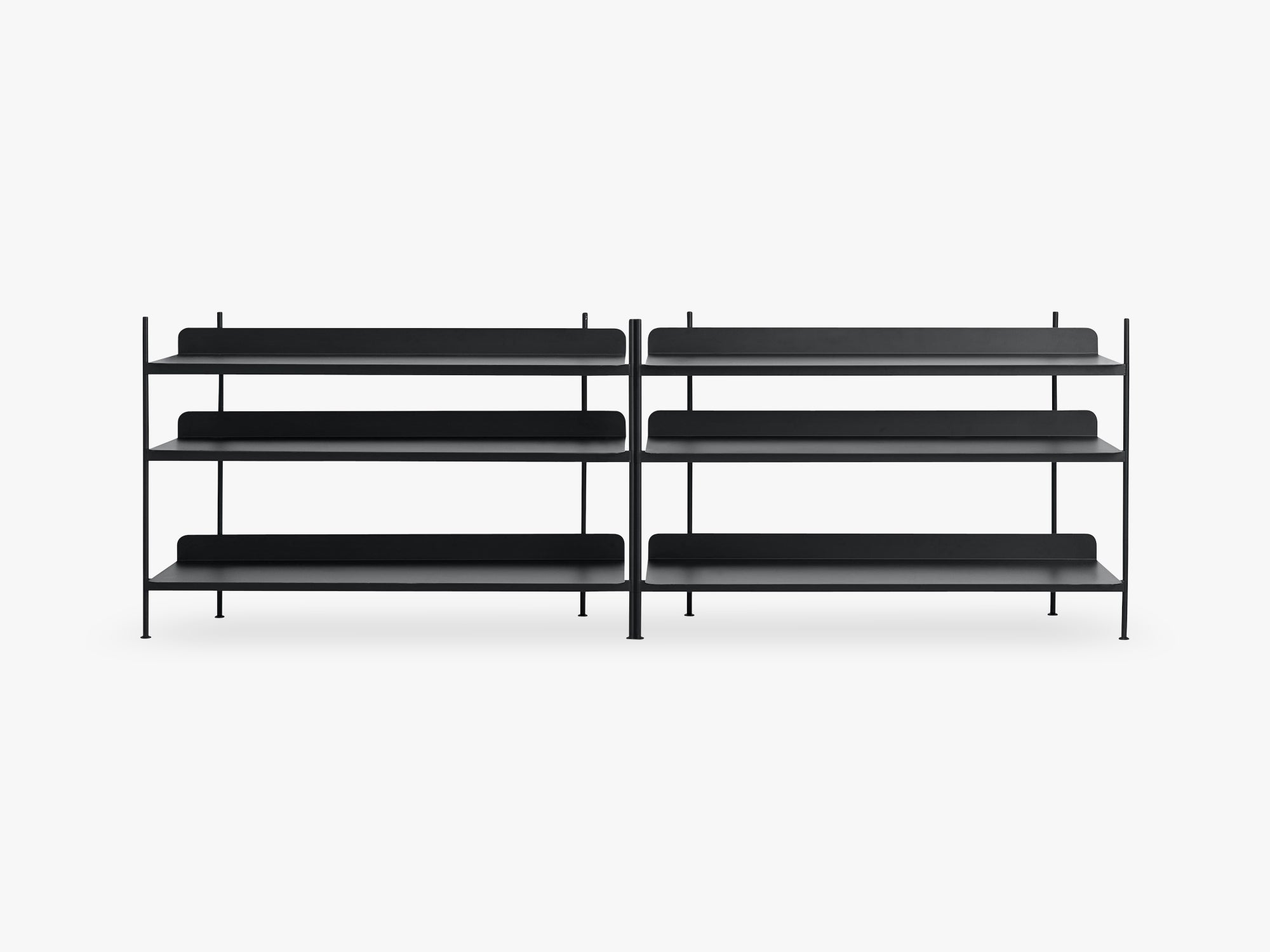 Compile Shelving System / Configuration 6, Black fra Muuto