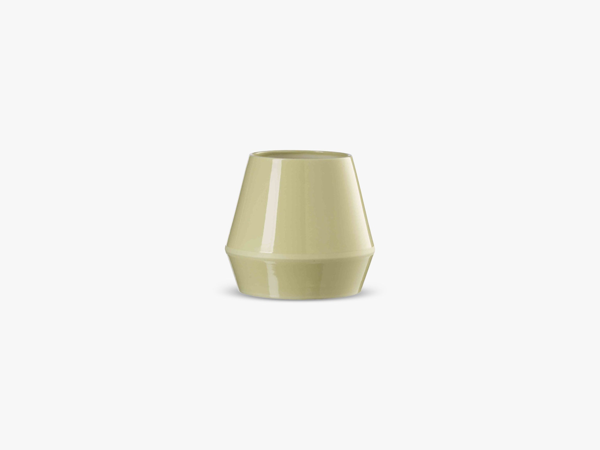 Rimm vase, short, dusty yellow fra By Lassen