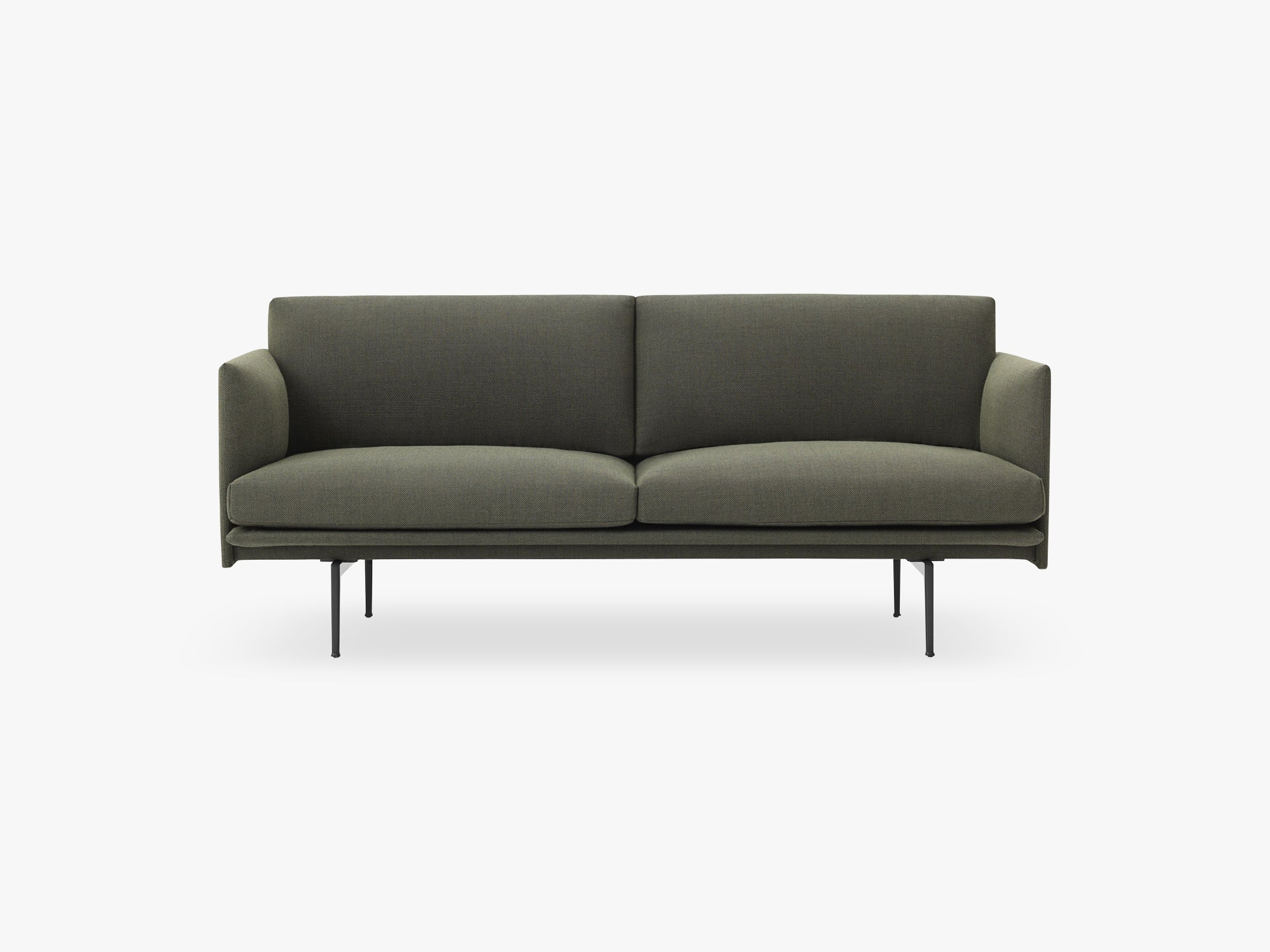 Outline Sofa - 2-Seater, Fiord 961 fra Muuto