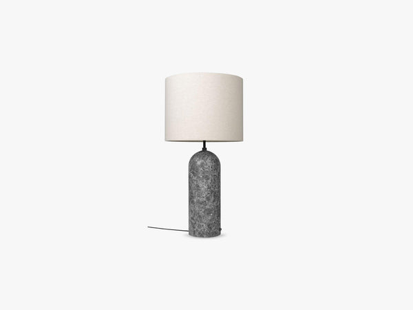 Gravity Floor Lamp - XL Low - Grey Marble base, Canvas fra GUBI