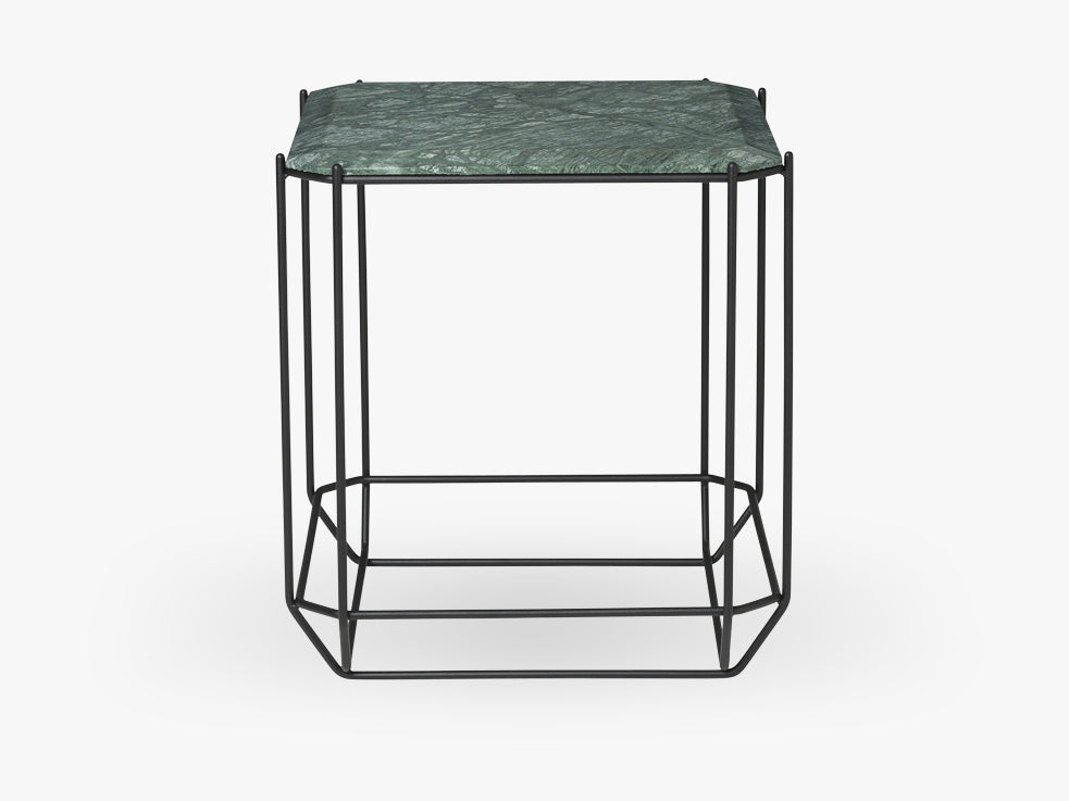 Jewel Side Table, grøn marmor fra Louise Roe