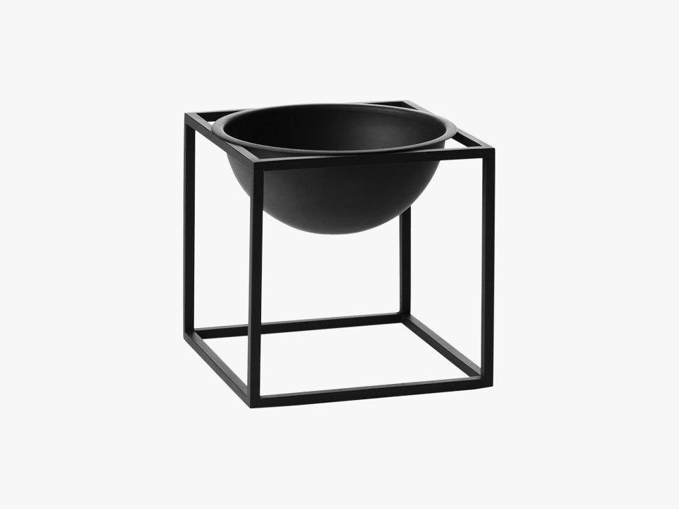 Kubus Bowl small, black fra By Lassen