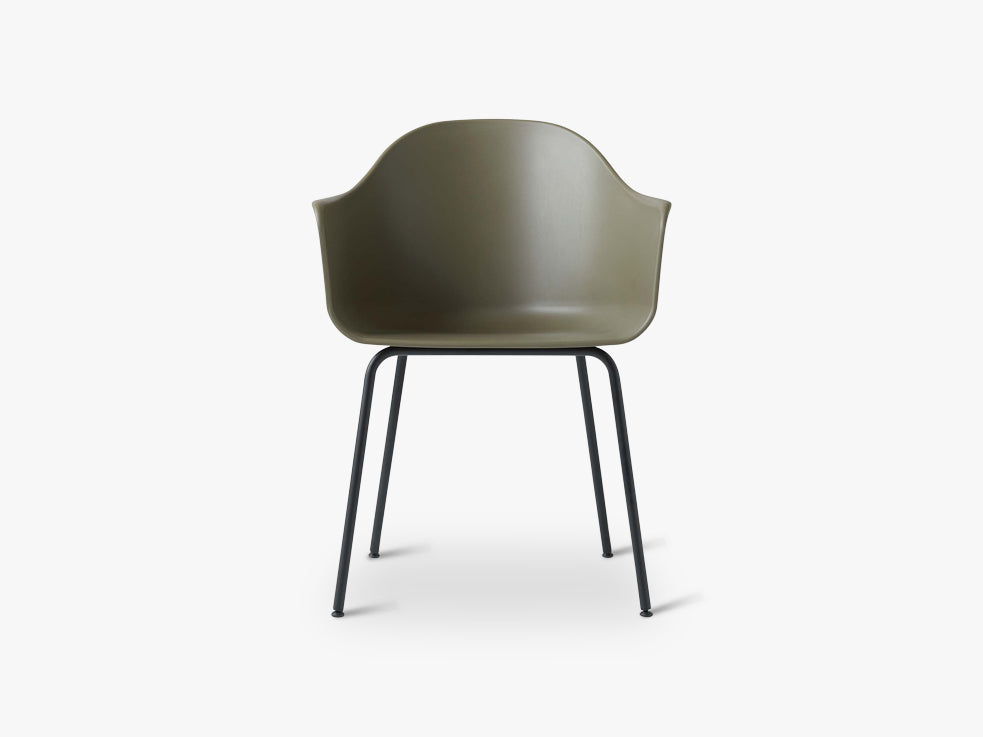 Harbour Chair, Olive/Black Steel Base fra Menu