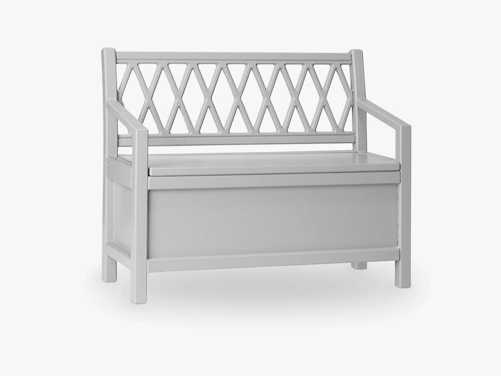 Harlequin Kids Storage Bench, Grey fra Cam Cam Copenhagen