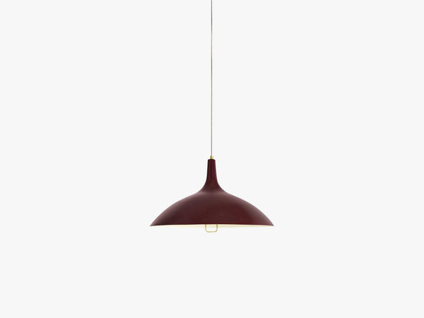 1965 Pendant - Brass base, Red shade fra GUBI