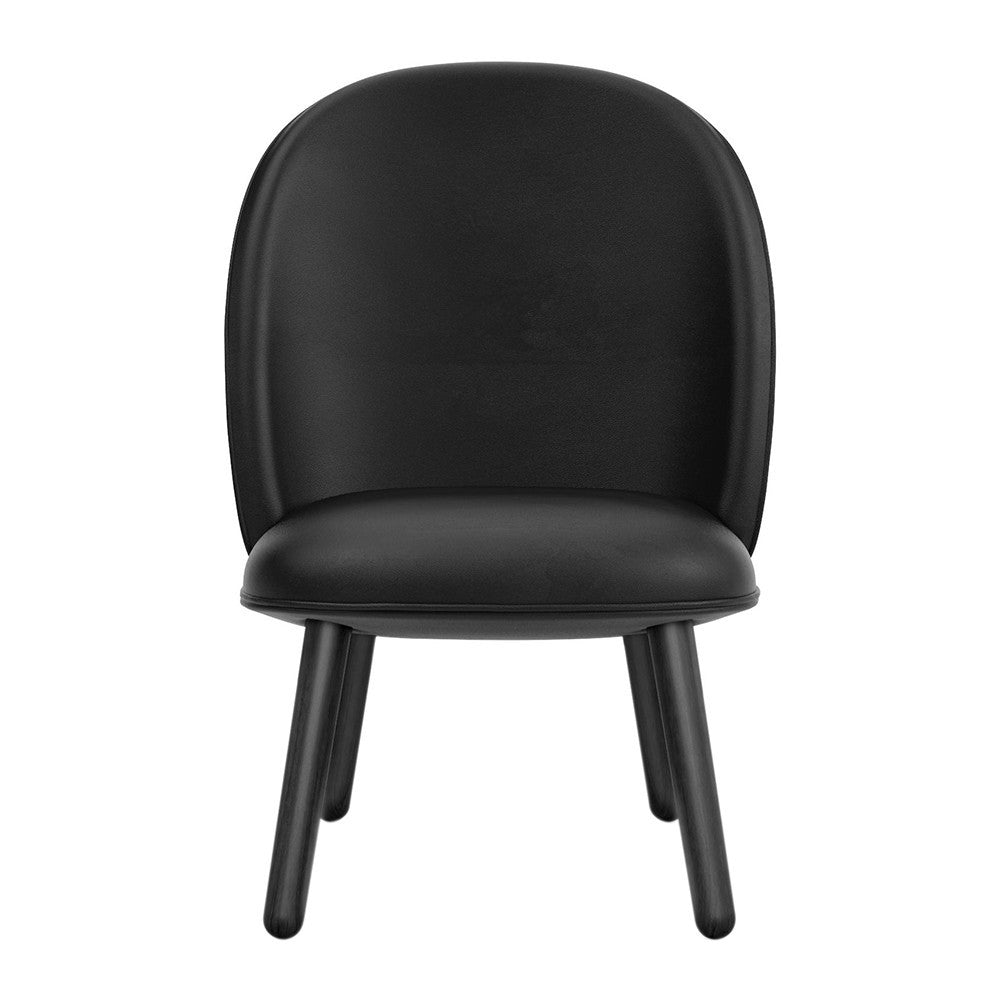 Ace Lounge Chair Tango Leather - Black fra Normann Copenhagen