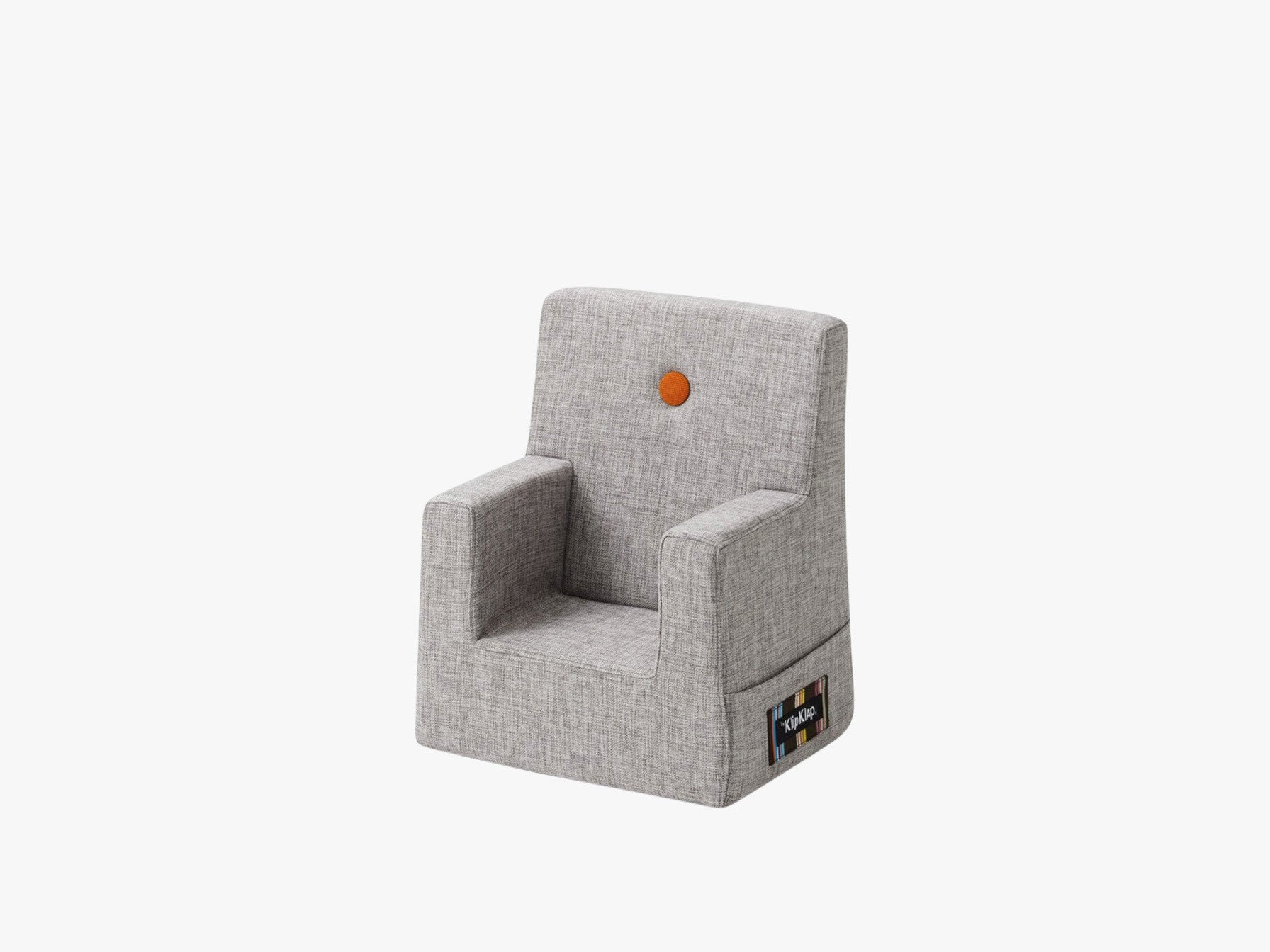 KK Kids Chair, Multigrå m. Orange fra By KlipKlap
