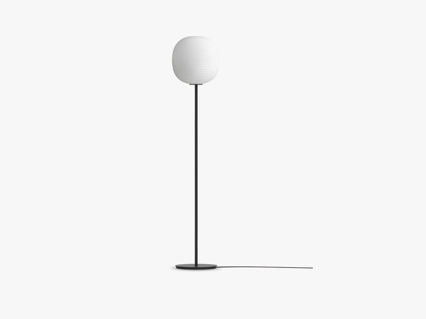 Lantern Floor Lamp w Black Base, Ø30 fra New Works