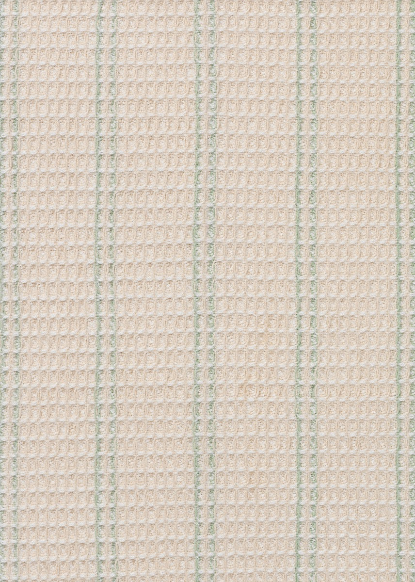 Aiayu Towel (2 pcs), Off White w. Green Stripe fra Aiayu