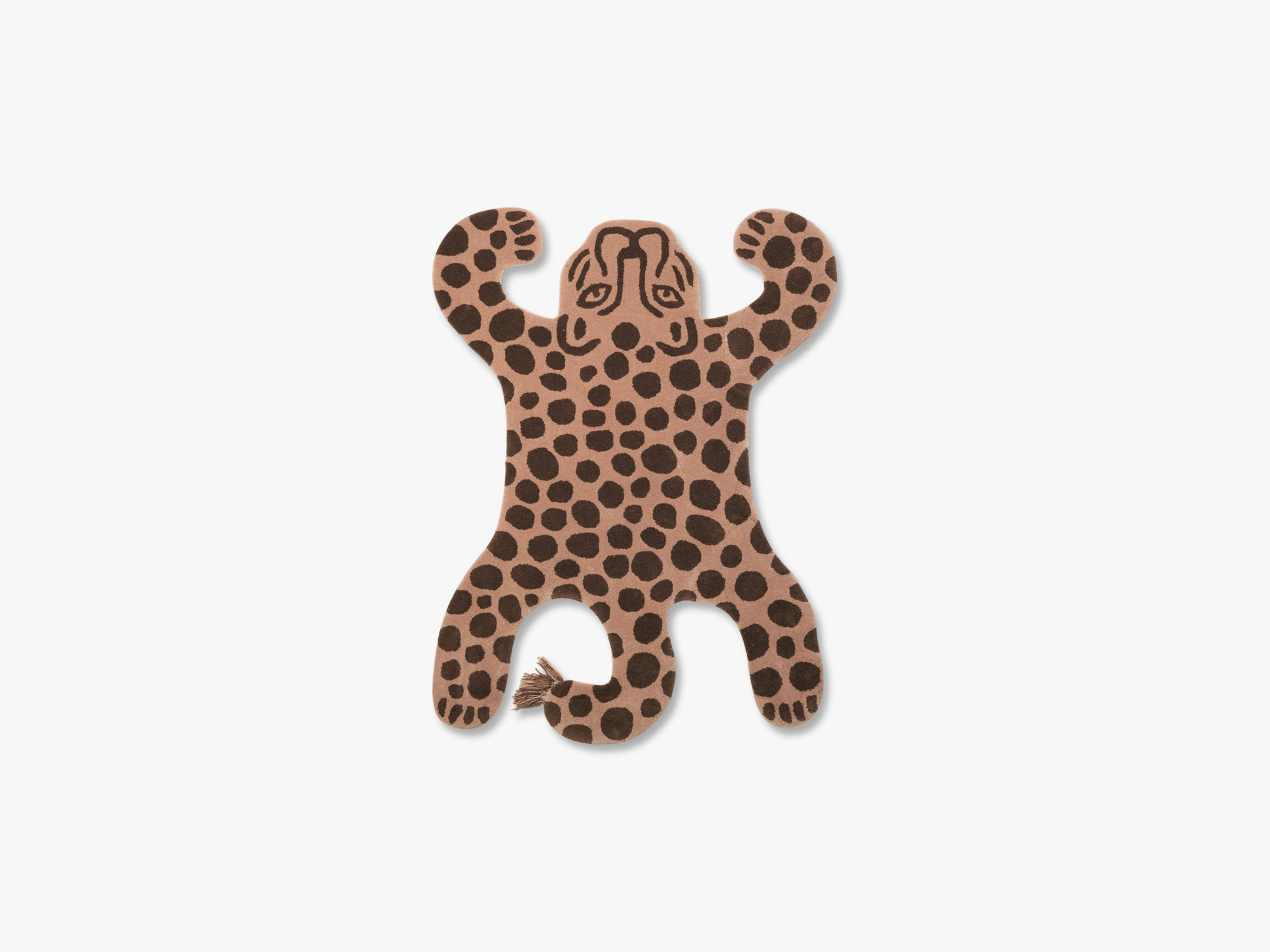 Safari Tufted Rug, Leopard fra Ferm Living