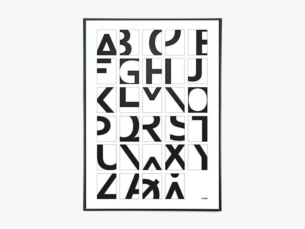 Alphabet - White fra By Krohn