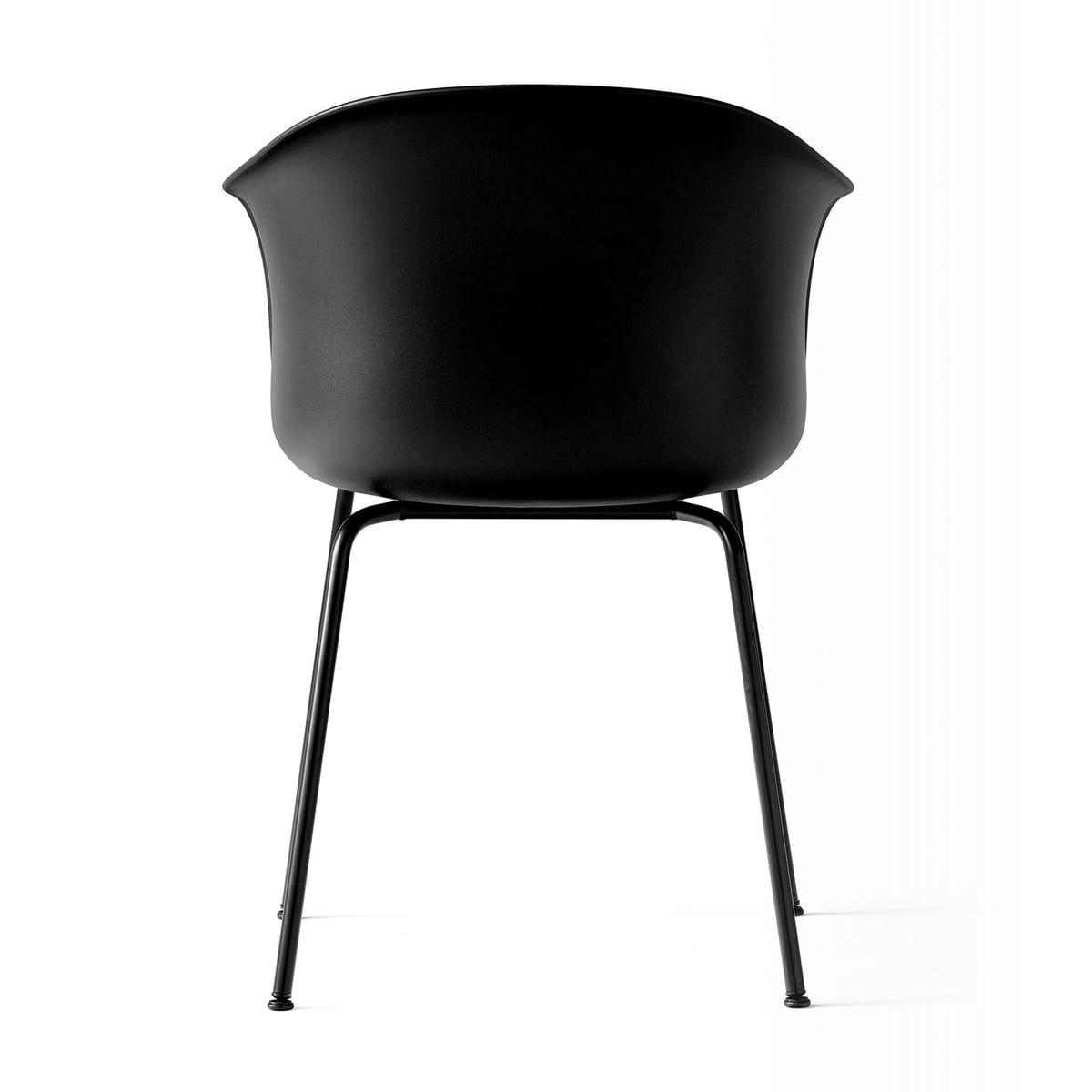 Elefy Chair JH28 Black, Black tube base fra &tradition