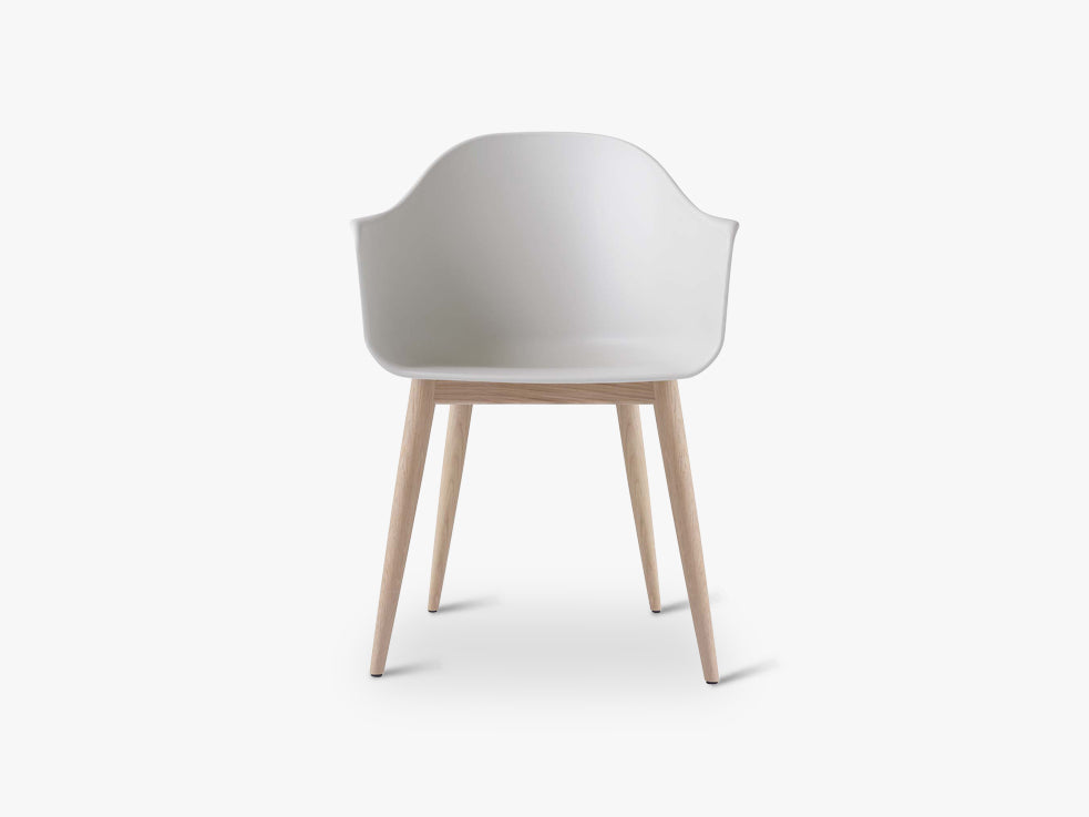 Harbour Chair, White/Natural Oak Base fra Menu