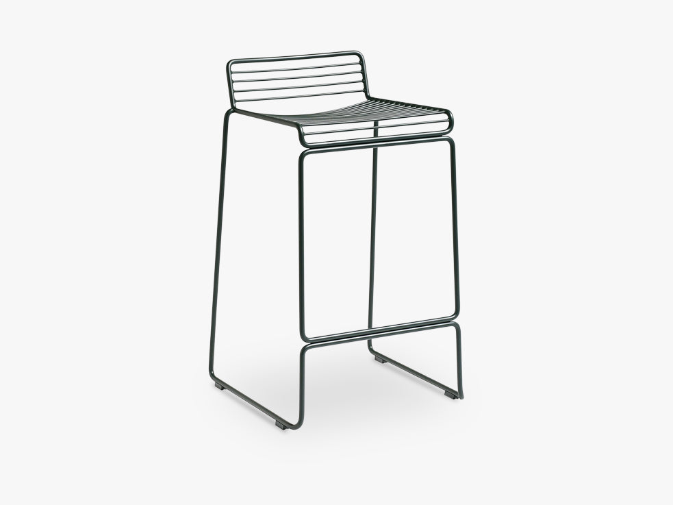 HEE Bar Stool Low, Racing Green fra HAY
