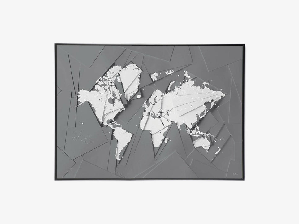 Maps Our World - Grey fra ChiCura