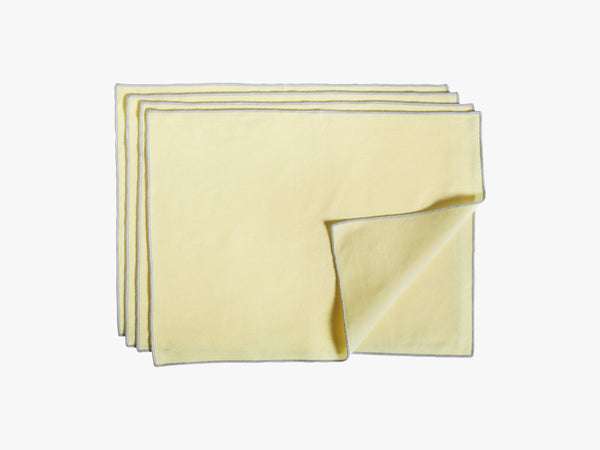 Contour Place Mat - 4 pcs, Lemon fra HAY