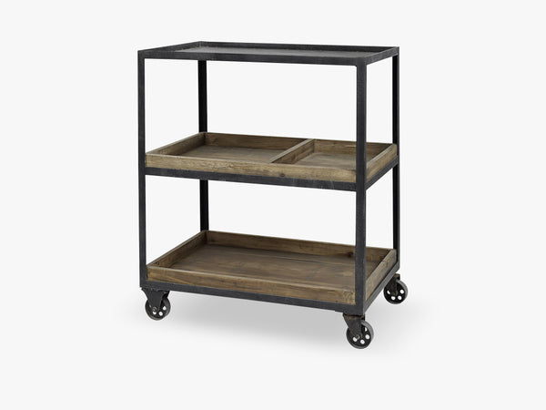 ALE trolley w 2 wooden boxes fra Nordal