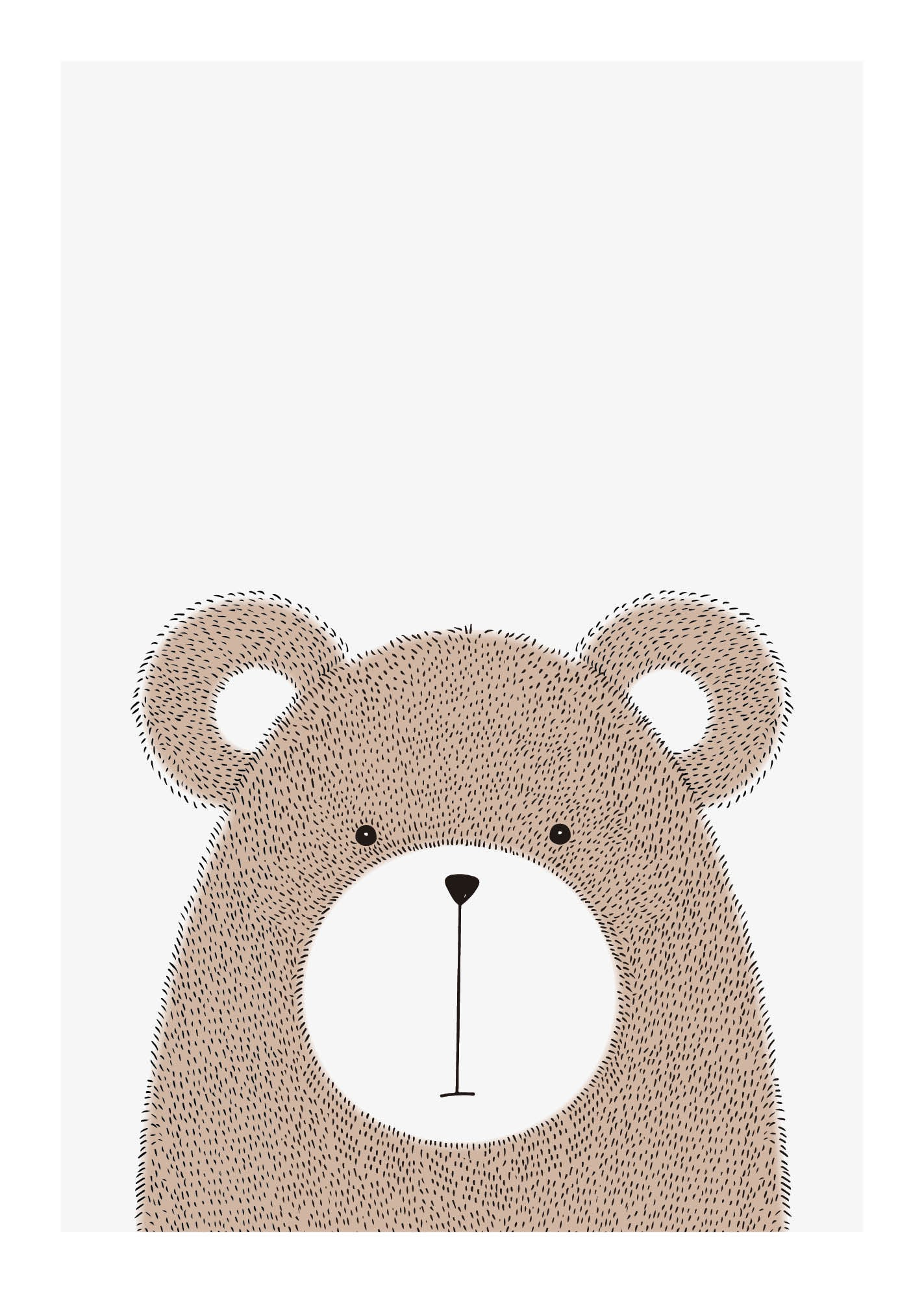 Bear - Plakat fra Paper Stories