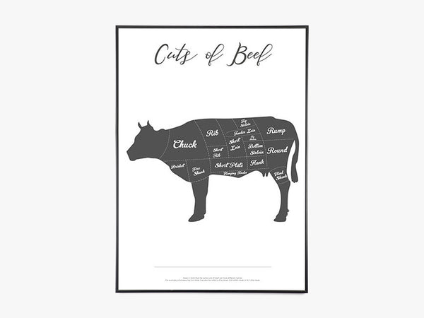 Cuts Of Beef - Hvid fra Paper Stories