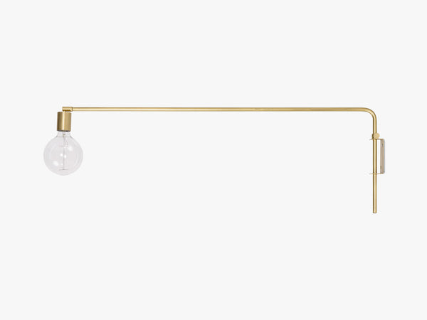 Wall Lamp, Brass, Metal fra Bloomingville