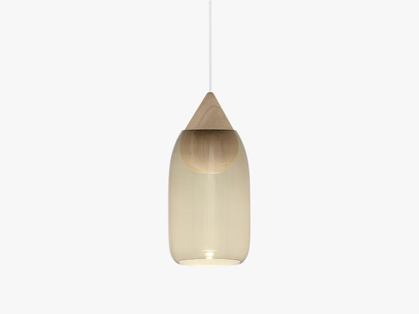 Liuku Glass Shade, Smoked fra Mater