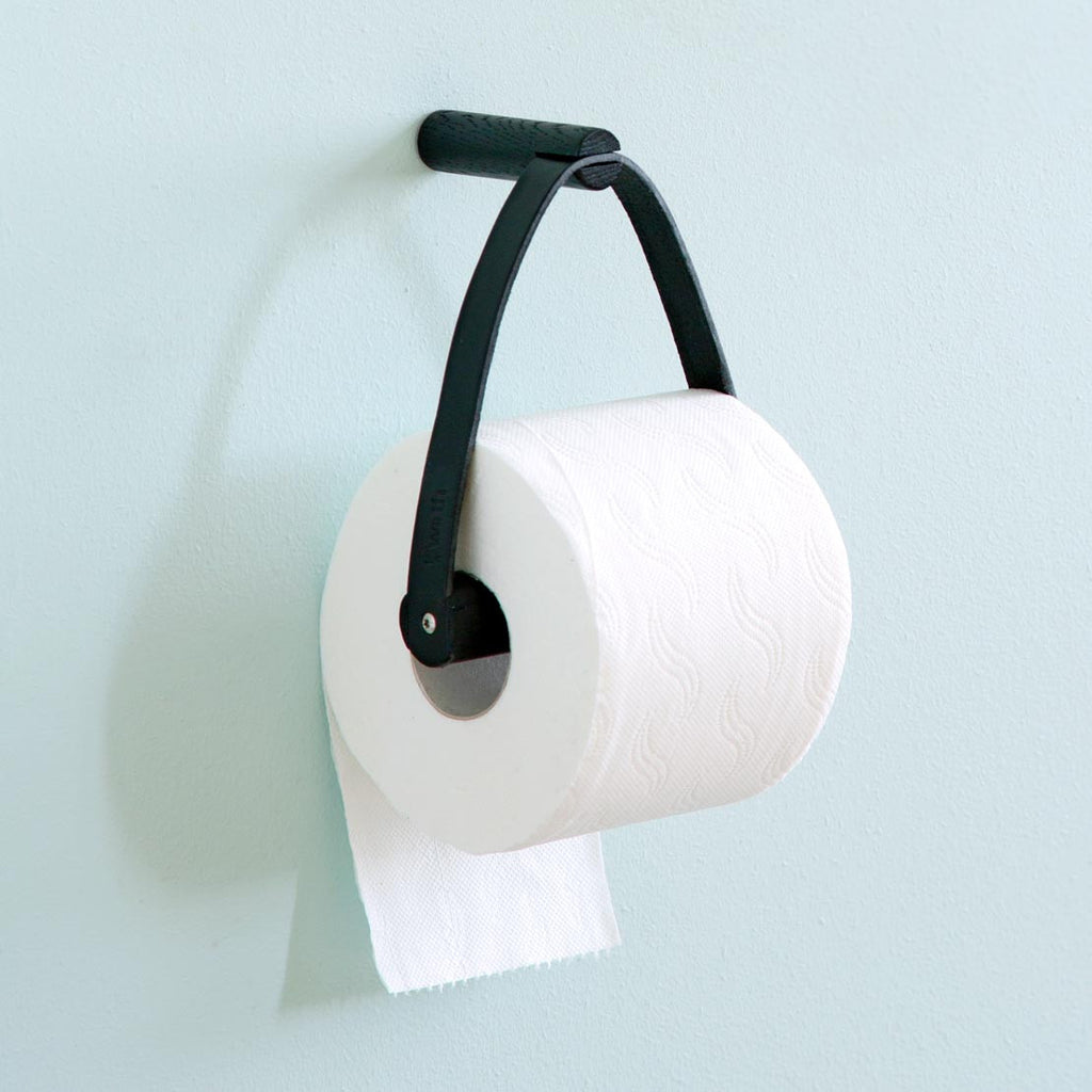 Toilet Paper Holder, Sort EG fra By Wirth
