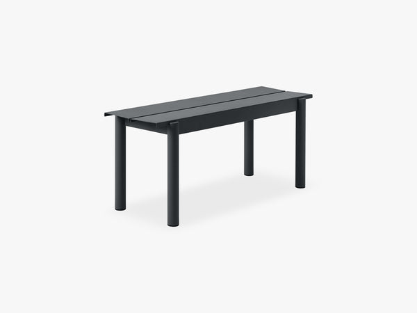 Linear Steel Bench - 110, Black fra Muuto