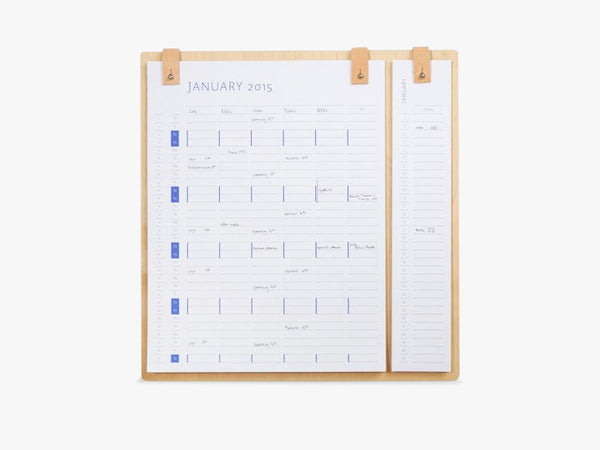 Planner board 2019 - 2020 fra By Wirth