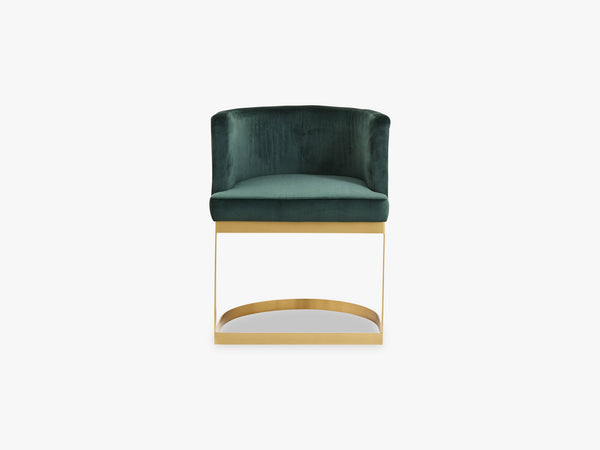 Lounge dinner chair, dark green fra Nordal