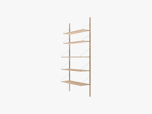 Shelf Library H1852, White Wash Oak fra FRAMA
