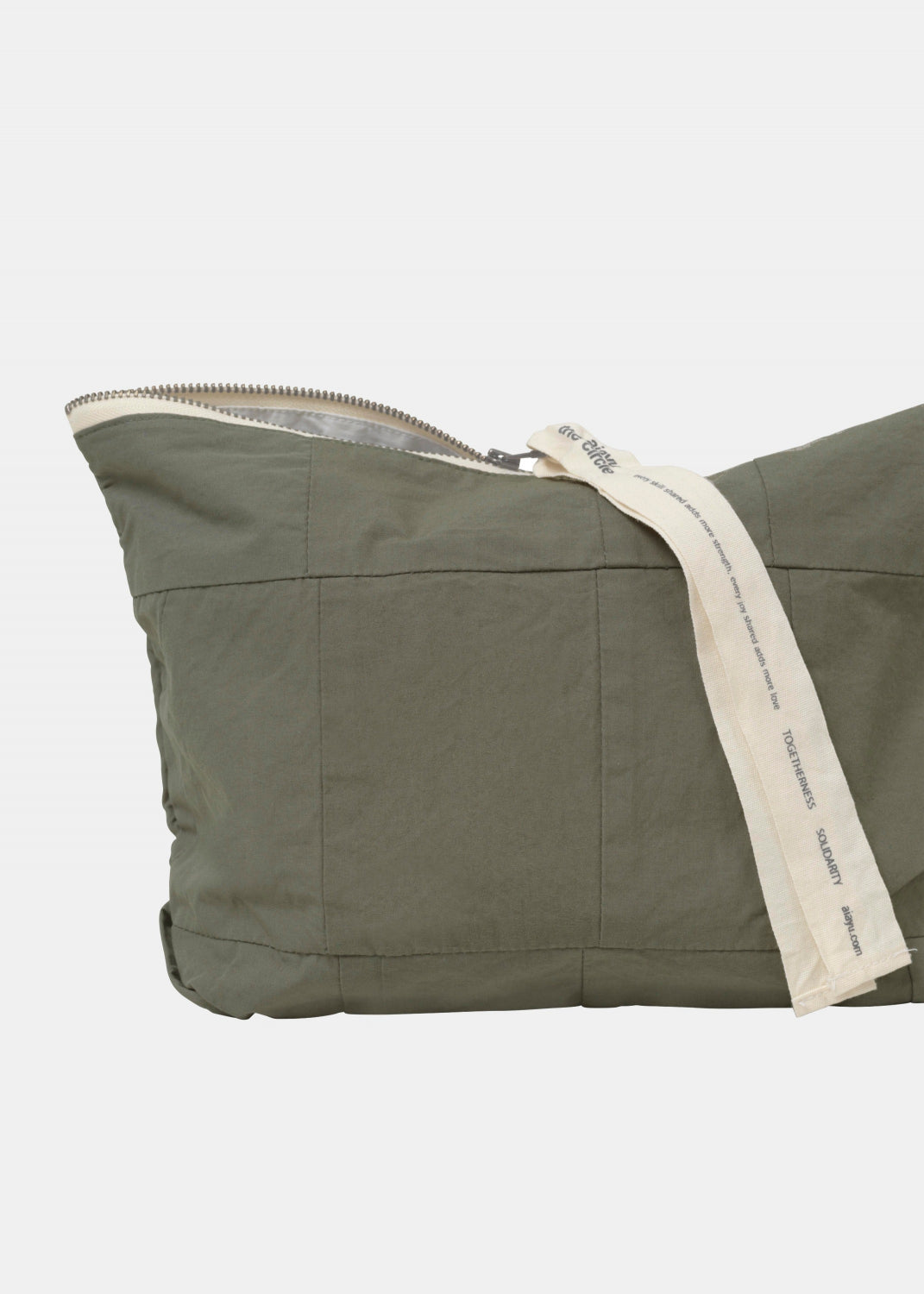 Circle Pouch Patchwork, Khaki fra Aiayu