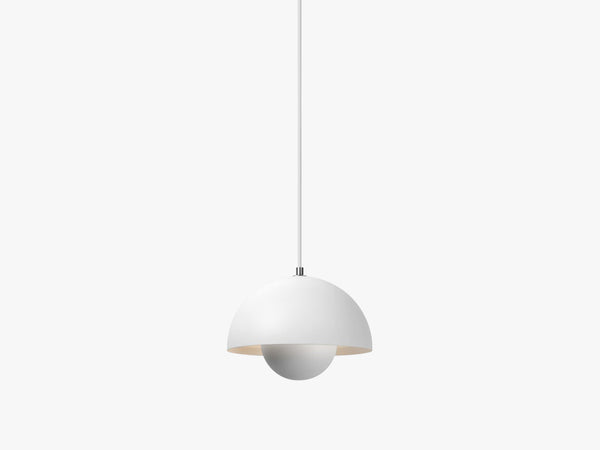 Flowerpot Pendant - VP1, Matt White fra &tradition