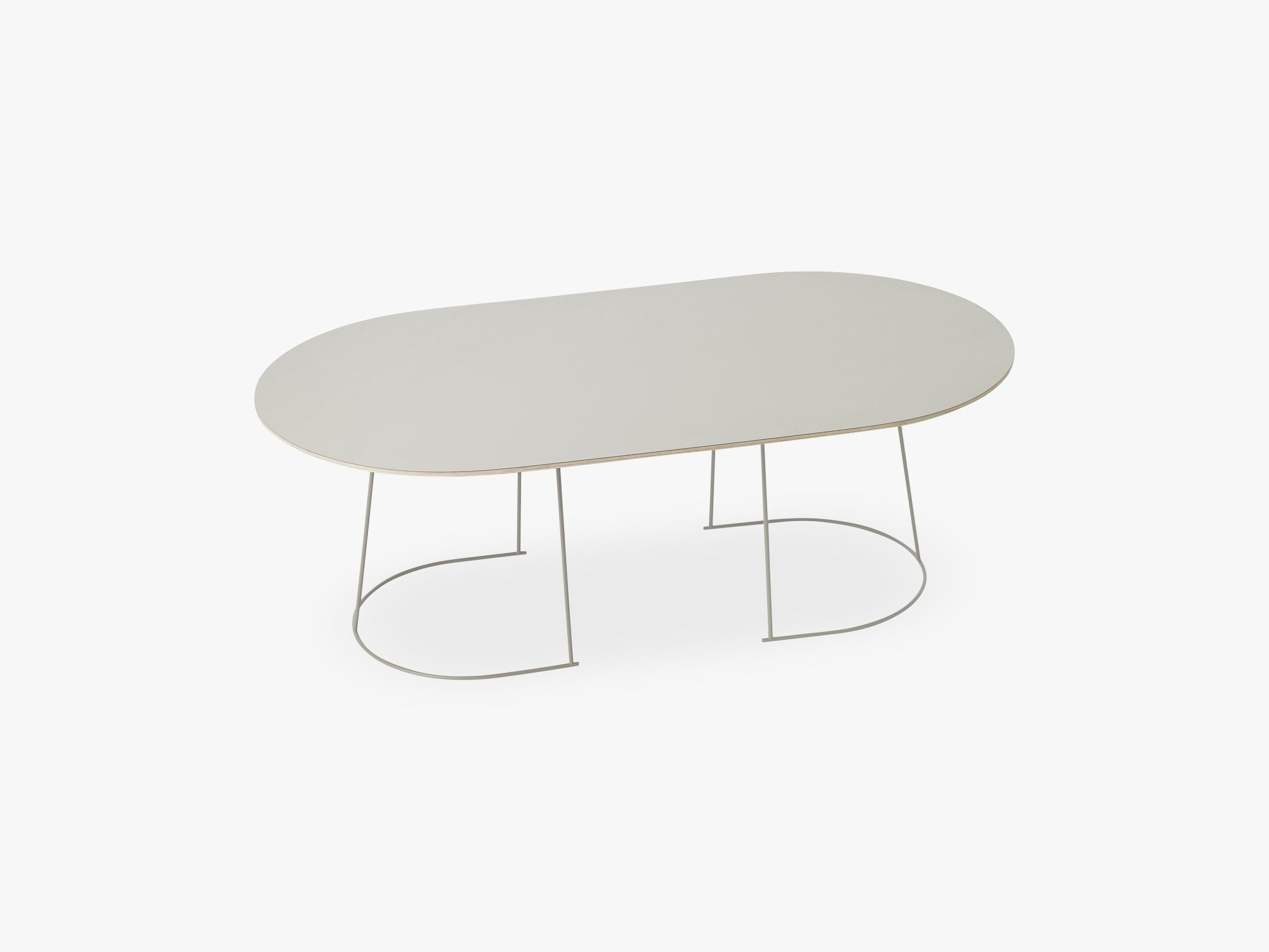 Airy Coffee Table - Large, Grey - Nanolaminate fra Muuto