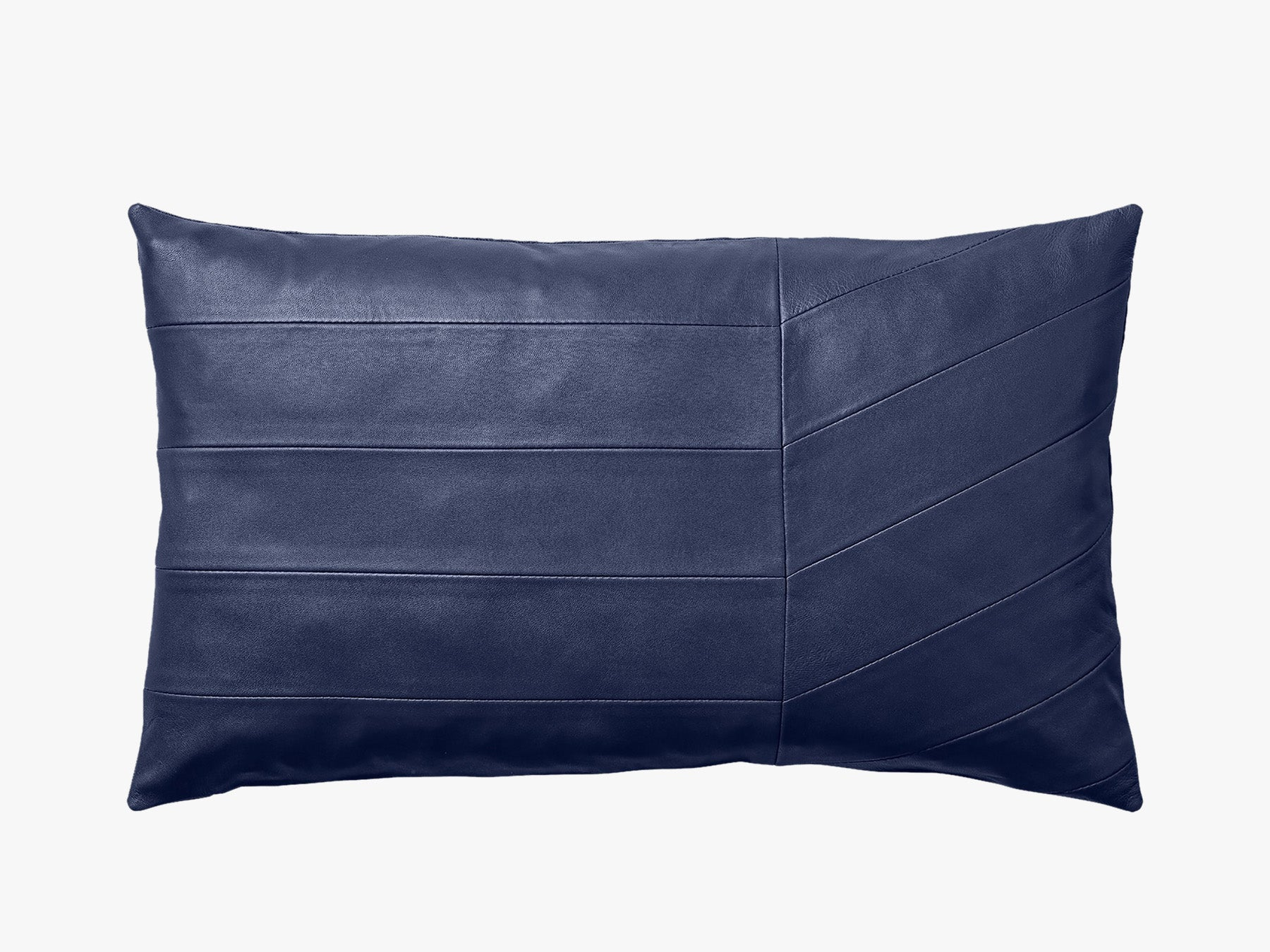 Leather Cushion - Navy fra AYTM
