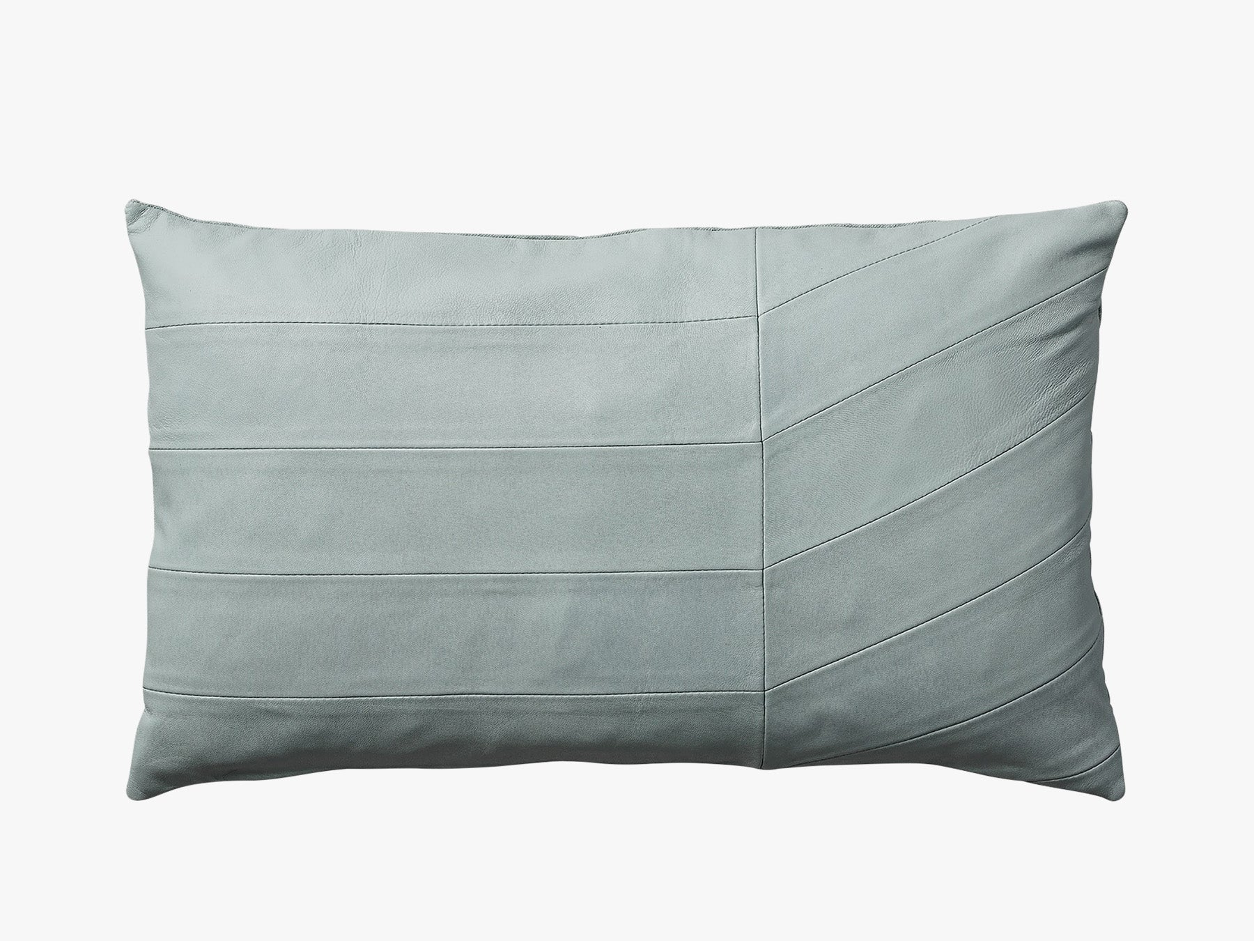 Leather Cushion - Pale Mint fra AYTM