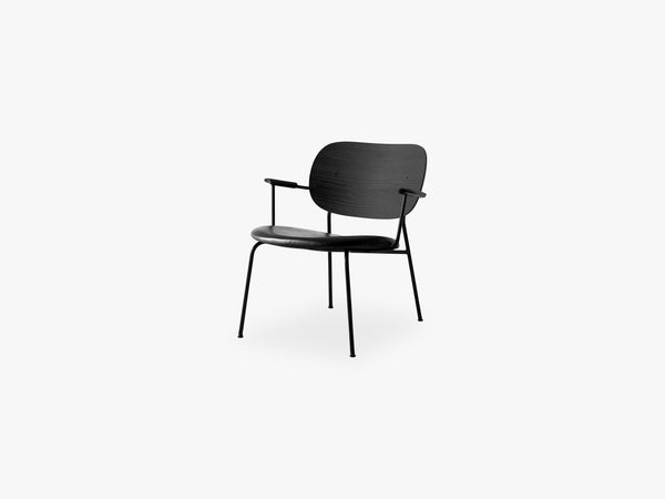 Co Chair Lounge Chair, Black Base/Black Oak/Dakar 0842 fra Menu