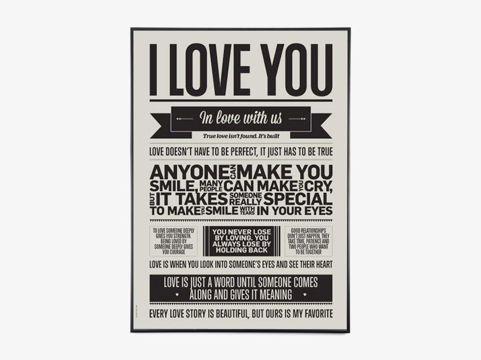 I Love You - Warm Grey fra I Love My Type