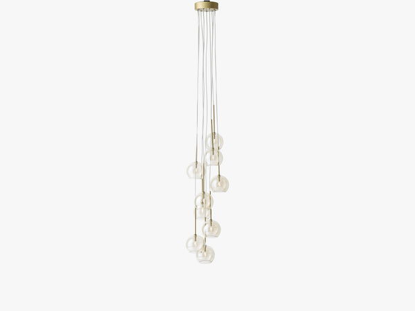 Ice Chandelier 9 - SR6, Gold fra &tradition